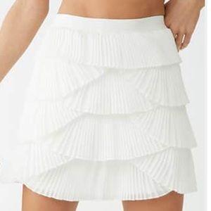 Pleated tier skirt